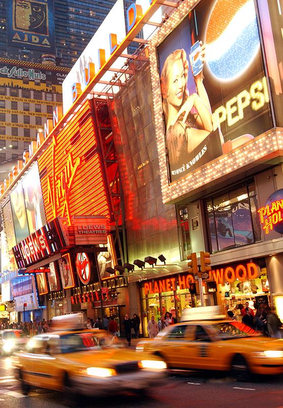 Image: New York street.